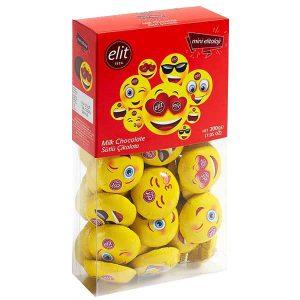 شکلات الیت Elit مدل ایموجی 12 گرمی شیری -ایبو کالا