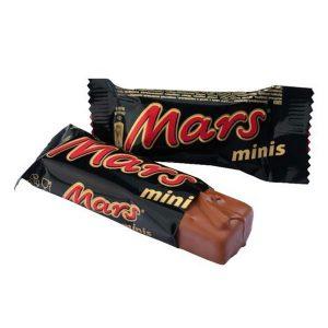 شکلات مارس Mars شیری با مغز نوقا و کارامل -ایبو کالا