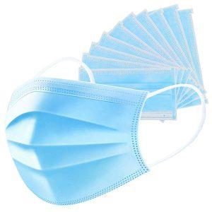 ماسک تنفسی 3 لایه آبی بسته های 50 عددی -ایبو کالا
