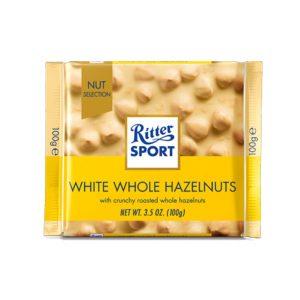 شکلات ریتر اسپرت Ritter sport کرمی شکلات سفید و فندق -ایبو کالا