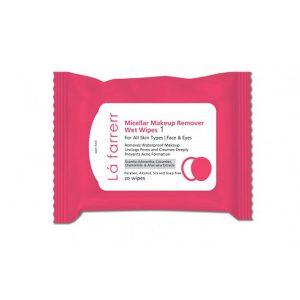 دستمال مرطوب آرایش پاک کن لافارر مناسب انواع پوست -ایبو کالا