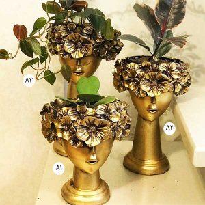 مجسمه گلدان پری گل به سر طلایی - ایبو کالا