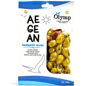 زیتون لیمویی یونانی المپیک Olymp با گیاهان دارویی 250 گرم - ایبو کالا