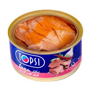 فیله ماهی تون با فلفل تاپسی TOPSI درب شفاف 180 گرم - ایبو کالا
