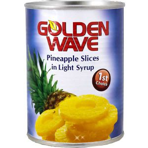 کمپوت آناناس حلقه گلدن ویو Golden WAVE وزن 565 گرم - ایبو کالا
